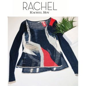 Rachel Roy Distressed Sweater